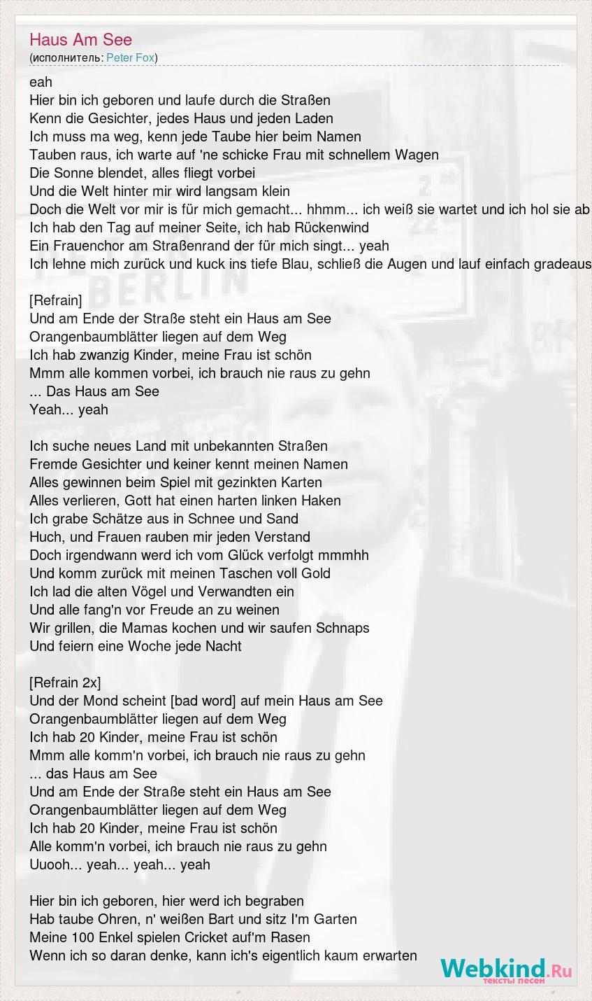 Frau peter fox 'No Evidence
